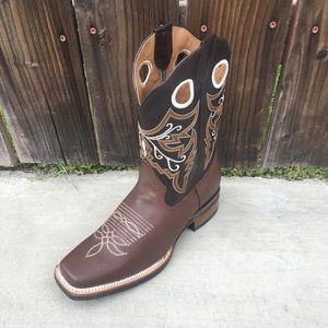 Cowboy Western Rodeo Leather Boots Brown